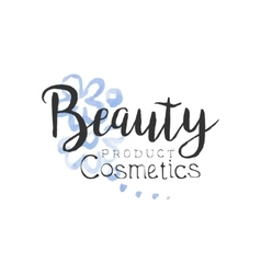 Cosmetics Product Beauty Promo Sign vector image vector image