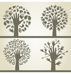 Hand a tree4 vector image vector image