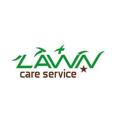 Lawn care logo vector image
