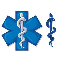 medical symbol caduceus snake vector image vector image