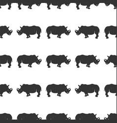 rhino seamless wild animal wallpaper stock vector image