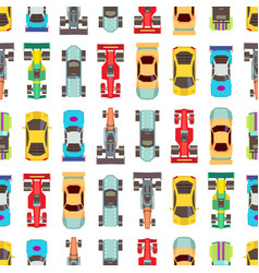 cars seamless racing vector image