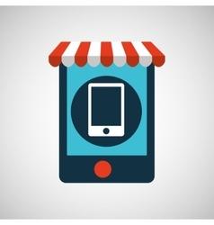 digital e-commerce smartphone icon design vector image vector image