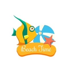 Beach Time Vacation vector image vector image