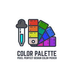 color swatch palette vector image