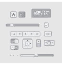 Flat Web UI Elements Design Gray vector image