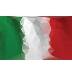 Italian flag Polygonal colorful flag vector image