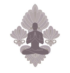 yoga and pray vector image vector image