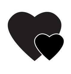 black heart icon on white background black heart vector image