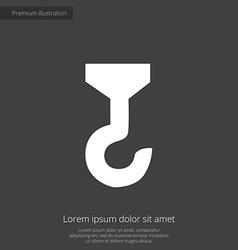 building crane premium icon white on dark backgrou vector image