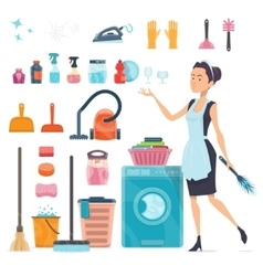 Cleaning elements collection vector
