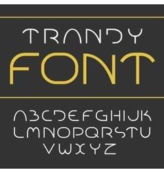 Elegant light font vector image vector image