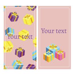 gift voucher template banner vector image vector image