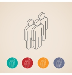 isometric icons of people group vector image