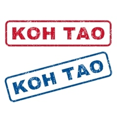 Koh tao rubber stamps vector