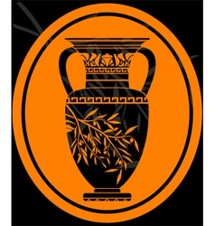 stencil of jug for olive oil vector image vector image