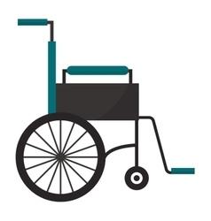 Wheelchair flat medical icon vector image