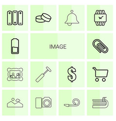 14 image icons vector image