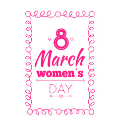 8 march poster wishes on international women s day vector image
