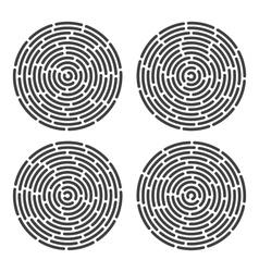 abstract fingerprint set vector image