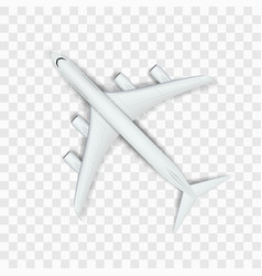 abstract white big airplane on transparent back vector image