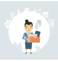 Accountant is documents and accounts vector image
