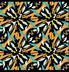 aztec style tribal ethnic geometric seamless vector image