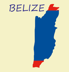 belize map high detailed isolated on white vector image