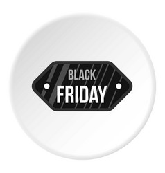 Black friday sale tag icon circle vector