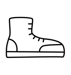 Boot outlinel icon vector