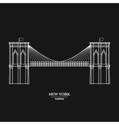 Brooklyn Bridge Icon 1 vector