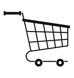Cart icon simple style vector