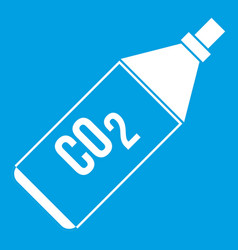 Co2 bottle icon white vector