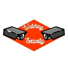 Color vintage security emblem vector image