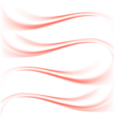 Delicate red streaks waves vector