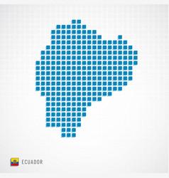 ecuador map and flag icon vector image