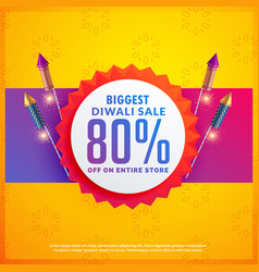 Festival discount and sale banners for diwali vector
