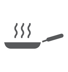 frying pan glyph icon kitchen and cooking fry vector image