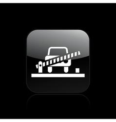 Gate car icon vector