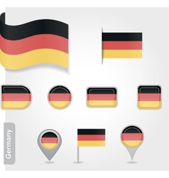 Germany icon set of flags vector image