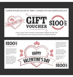 Gift voucher Valentines day vector