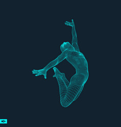 Gymnast man 3d model of man human body model body vector