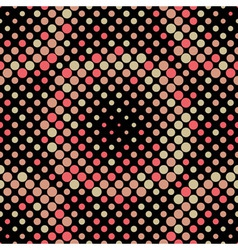 Halftone Circle Tiles Warm Colors Seamless Pattern vector image