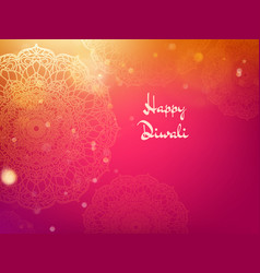happy diwali festival holiday design template eps vector image