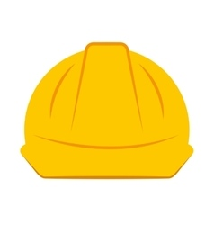 helmet worker security icon vector image