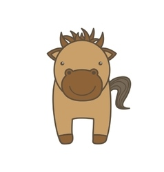 horse cartoon icon Animal farm design vector image