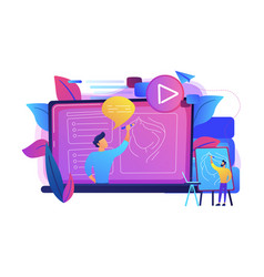 how-to videos concept vector image