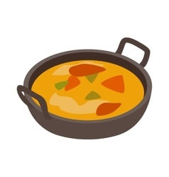 Indian traditional dish icon isometric 3d style vector