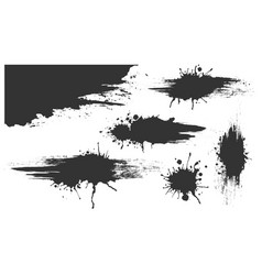 ink spots set bloat collection in vector image