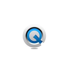 letter q logo icon design vector image